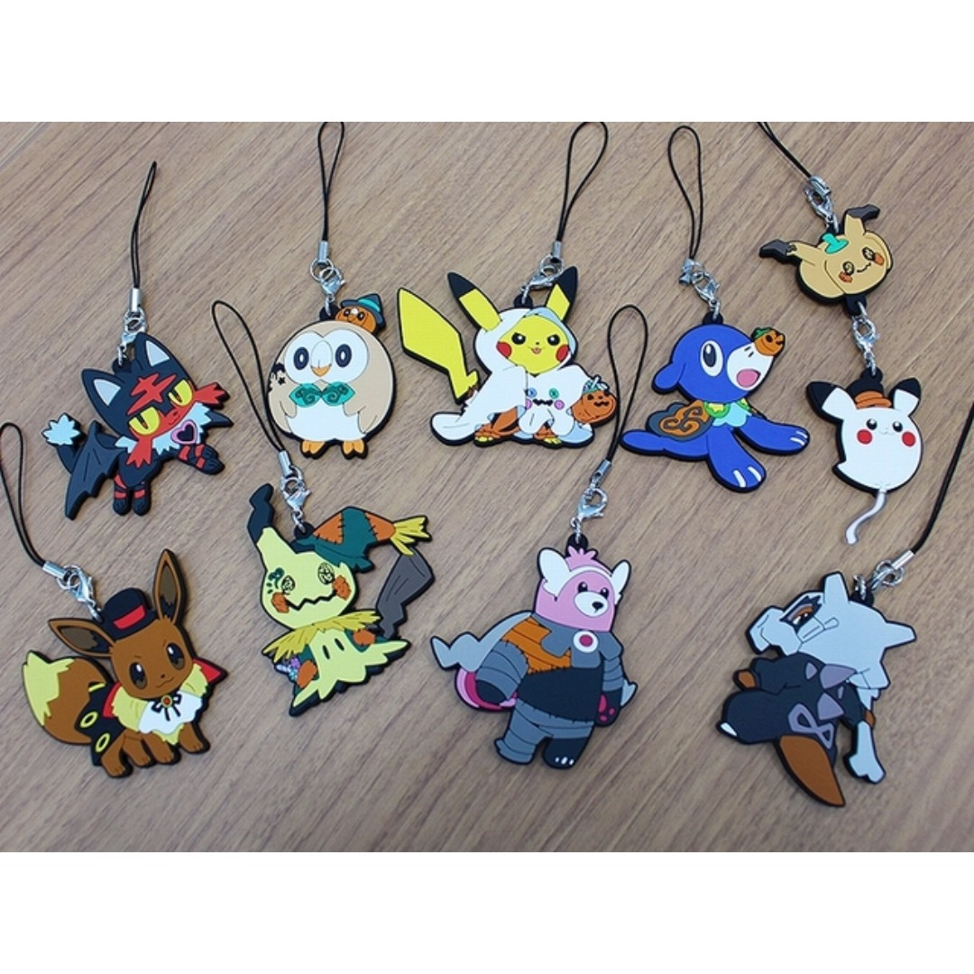 pokemon center exclusive pokemon halloween time 2017 rubber strap collection pre order toys games bricks figurines on carousell