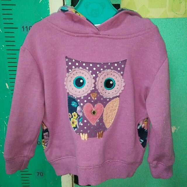 Purple owl hoodie 2-3yrs old