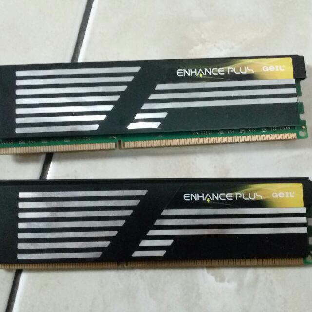 "Ram Geil DDR3 2*2gb Pc1700 Cl9 Enak Buat Tarik""an"