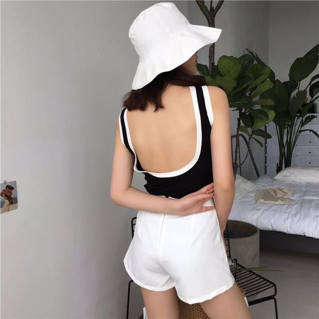 Ready Stock Low Back Tank Top