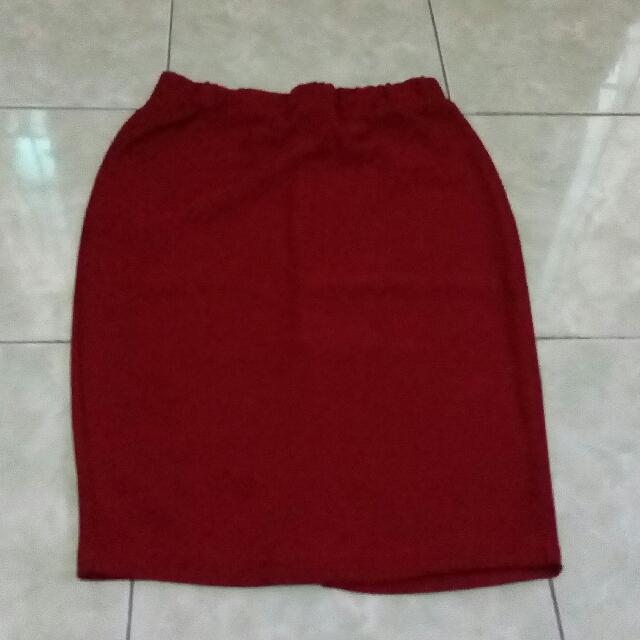 Rok Midi Red