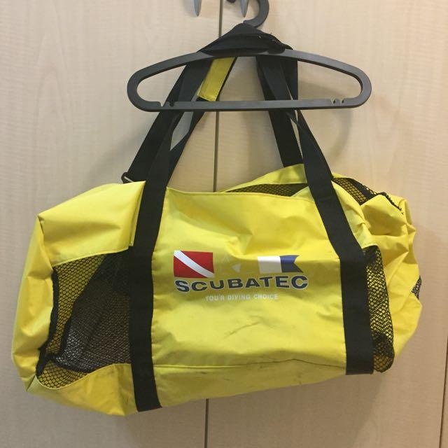 SCUBATEC 潛水裝備網袋。潛水 浮潛 衝浪 可放重裝備輕裝備~黃色