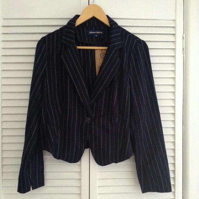 Size 14 Princess Highway Pinstripe Jacket