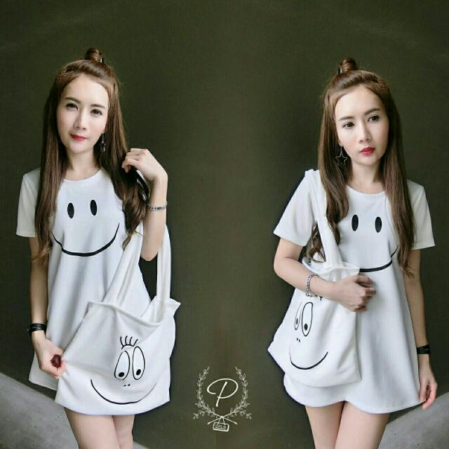 Smile Dress # Only 120 3 Pcs