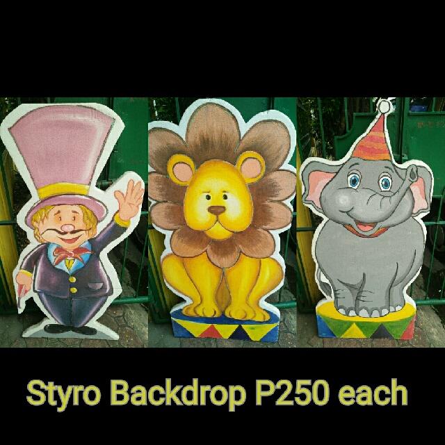 Styro backdrop