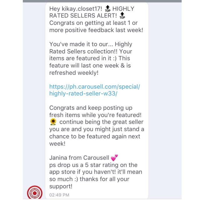 THANK YOU SO MUCH CAROUSELL ❤️