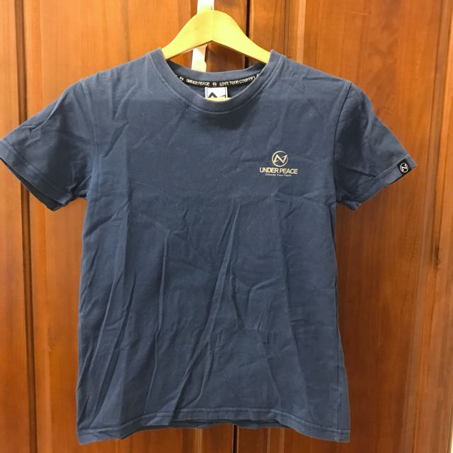 Underpeace logo t shirt 藍色