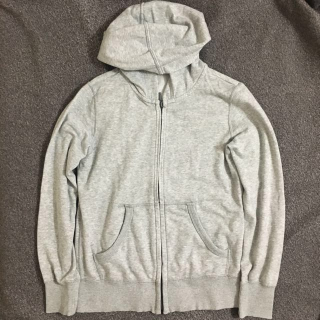 Uniqlo Grey/Gray Hoodie Jacket