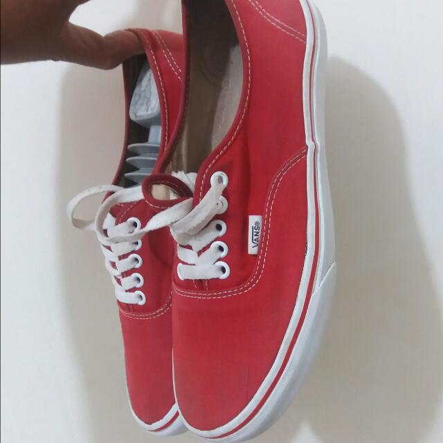 Vans Authentic Red Original Second Size 8 Us / 40.5