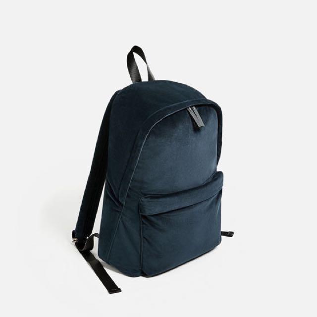 Velvet Backpack Zara