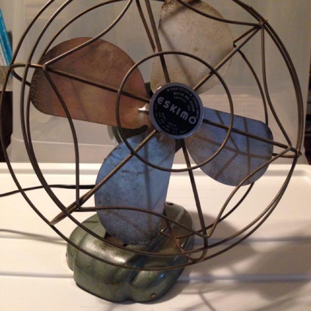 Vintage Canadian Made Mid-Century Metal Eskimo Fan