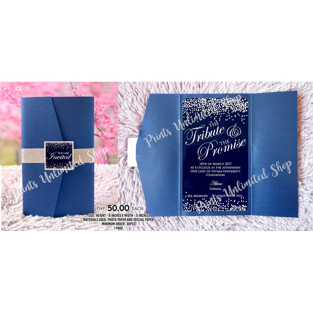 Wedding and debut invitation design craft others on carousell stopboris Choice Image