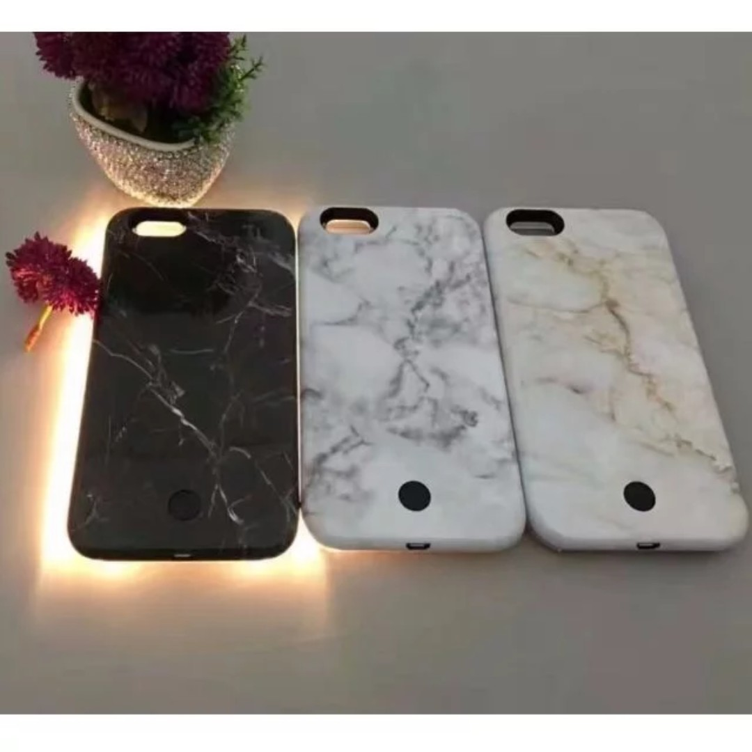 info for 8c48f ca874 Brand New Instocks / Ready Stocks MARBLE style LUMEE Light Up Selfie Phone  Case Cover Casing - Apple IPhone 6/6S, 6/6S Plus, 7 & 7 Plus - Black White  ...