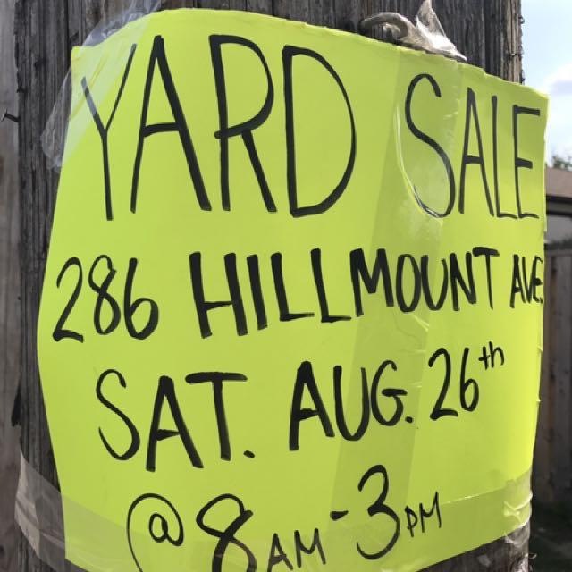 Yard Sale This Saturday
