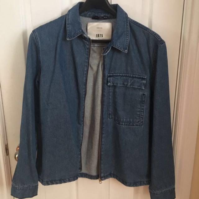 Zara Man Denim Overshirt - BLUE Sz. L