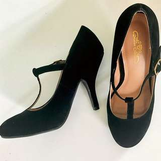 [Free Shipping] Vintage Style T-Strap Heels