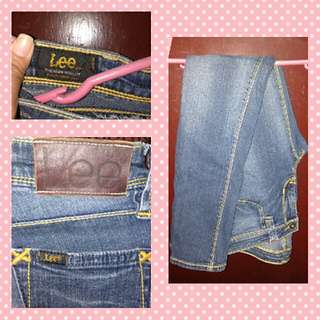 Authentic Lee Jeans.