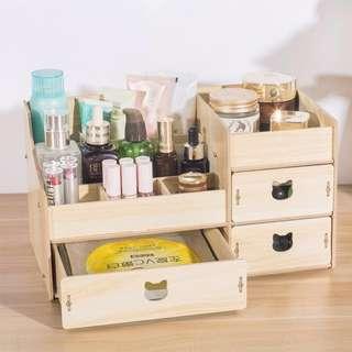 化妝品 化妝盒 收納盒 實木