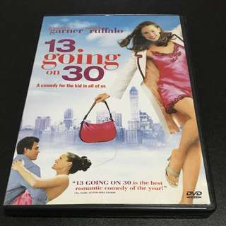 13 GOING On 30 Movie DVD
