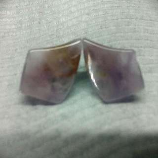 Raw Lilac Jade Earrings