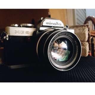 Kamera Analog Minolta XG 9 Lensa 50mm F1.7