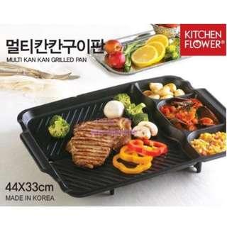 韓國連線預購韓國製KITCHEN FLOWER新款多格長型大烤盤