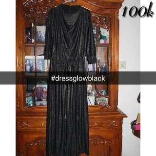 Dress Black Glowing