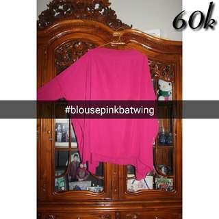 Blouse Pink Batwing