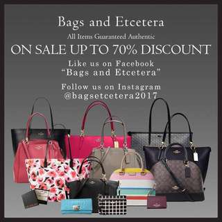 Kate Spade , Coach , Lacoste Bags and Etcetera
