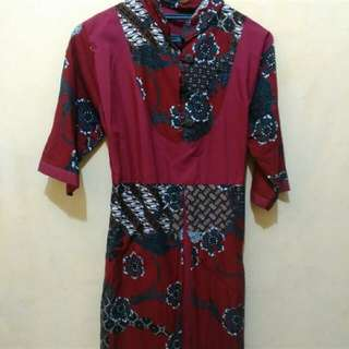 Batik Cantik Wrn Maroon
