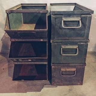 美國經典老鐵箱/置物鐵盒/工具櫃/工業風
