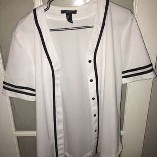Forever 21 Men Baseball Button-Up