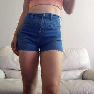 Size 25 / XS High Rise Denim Shorts