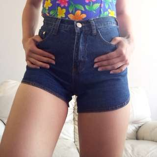 Size 25 Dark Denim Shorts