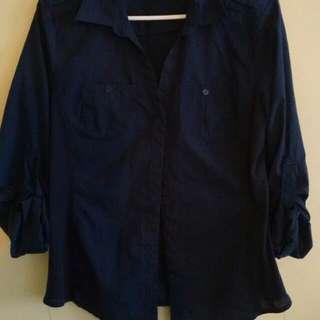 Old Navy Navy Shirt