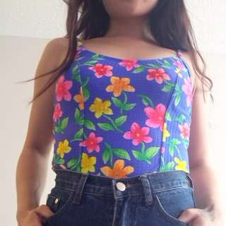 XS Floral Strappy Top