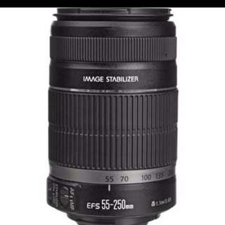 Canon efs 55-250mm/4-5.6 is II lens