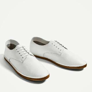 BNWT ZARA Leather Bluchers Shoes