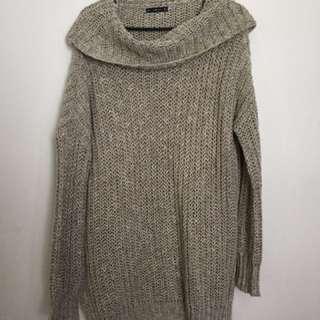 Zara Long Thigh Length Warm Turtle Neck Sweater