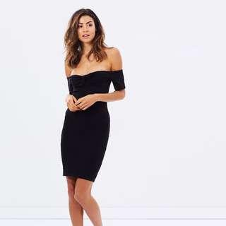 BN Bardot Tie Front Off Shoulder Dress