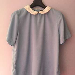 Collqr blouse brand uptown Girls