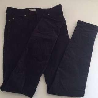 Black velvet size 8 jeans