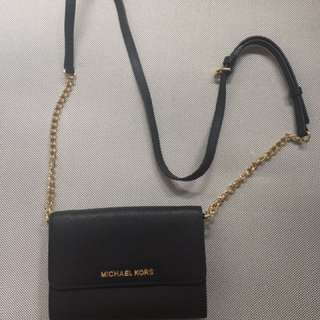 Michael Kors Jetset wallet on chain in Black (小包)