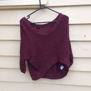 Crop Jumper Burgundy