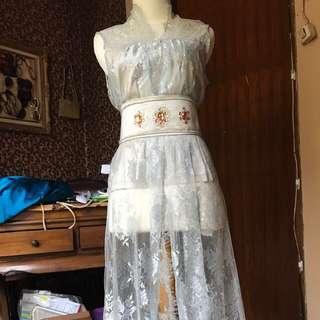 brokat bagus dress dengan obi
