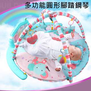遙控版圓形墊/寶寶多功能爬行毯/嬰兒腳踏鋼琴健身架/0-3-6-12適用