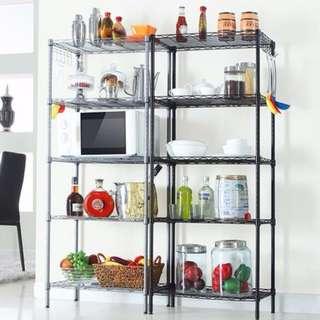 $168 (包運費) 45cm| 54cm | 60cm | 5層 | 6層 微波爐架 層架 Rack Shelves