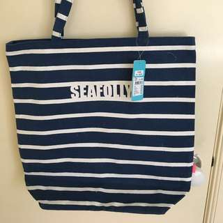*REDUCED* Seafolly Plastic-lined Beach Bag