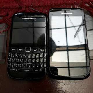 Lenovo Smartphone and Blackberry Bold