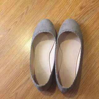 Zalora Nude Flats With Braid Details